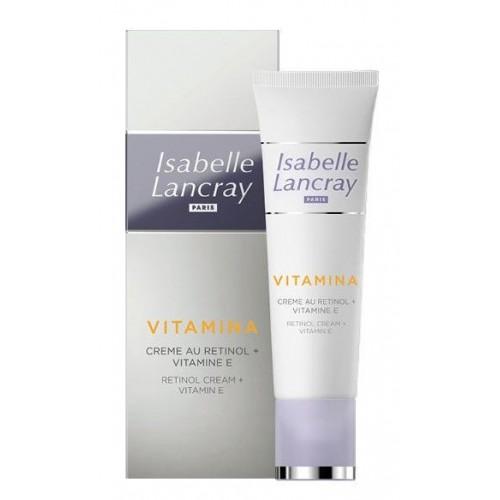 Priešraukšlinis kremas su retinoliu ir vitaminu E/ Retinol Cream + Vitamin E   ISABELLE LANCRAY 25ml