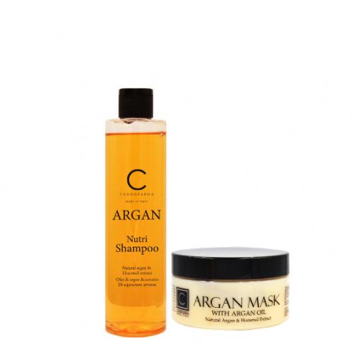 Plaukų šampūno ir kaukės rinkinys su arganu ARGAN 250+200ml