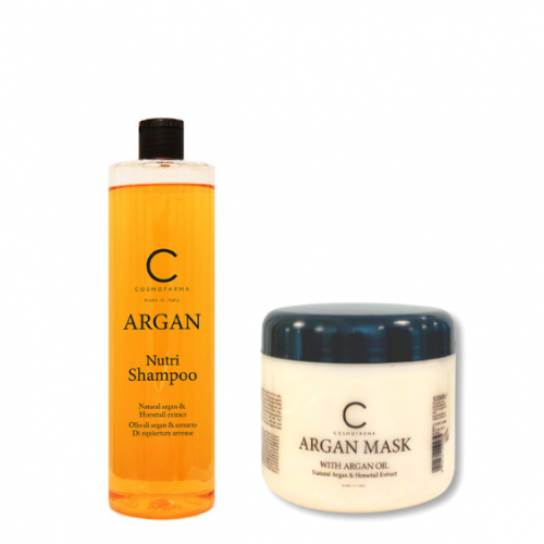 Plaukų šampūno ir kaukės rinkinys su arganu ARGAN 500-500ml