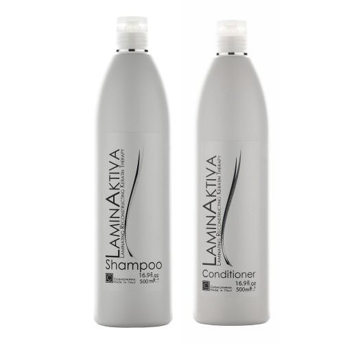 Keratino terapijos rinkinys LAMINAKTIVA (500 ml + 500 ml)