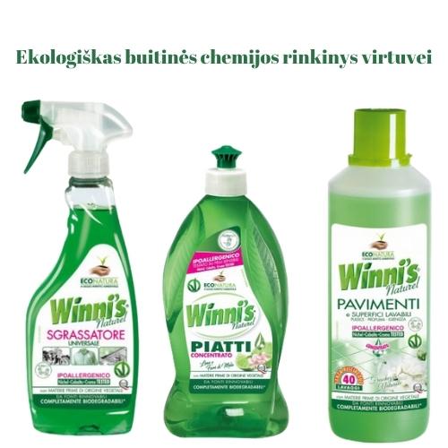Ekologiškas Buitinės Chemijos rinkinys Virtuvei Winni's
