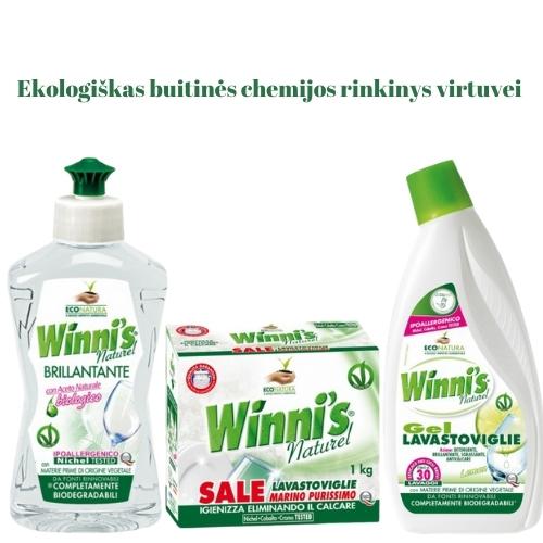 Ekologiškas Buitinės Chemijos rinkinys Indaplovei 2 Winni's