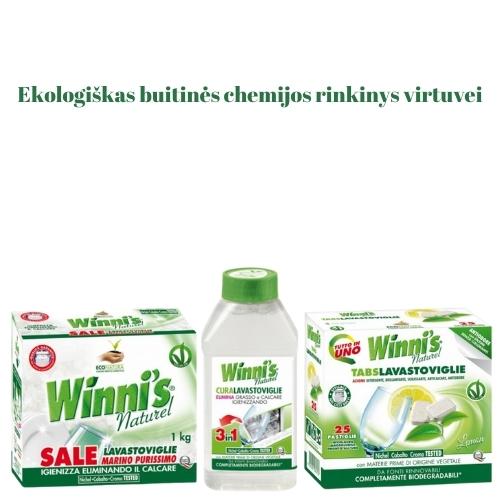 Ekologiškas Buitinės Chemijos rinkinys Indaplovėms Winni's