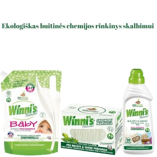 Ekologiškas Buitinės Chemijos rinkinys Skalbimui 4 Winni's