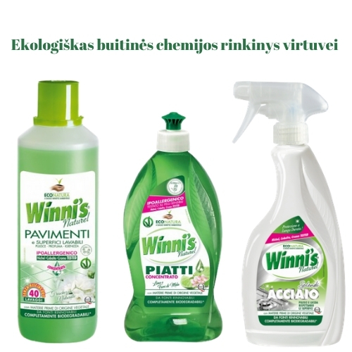 Ekologiškas Buitinės Chemijos rinkinys Virtuvei 2 Winni's