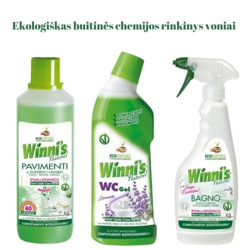 Ekologiškas Buitinės Chemijos rinkinys Voniai 3 Winni's