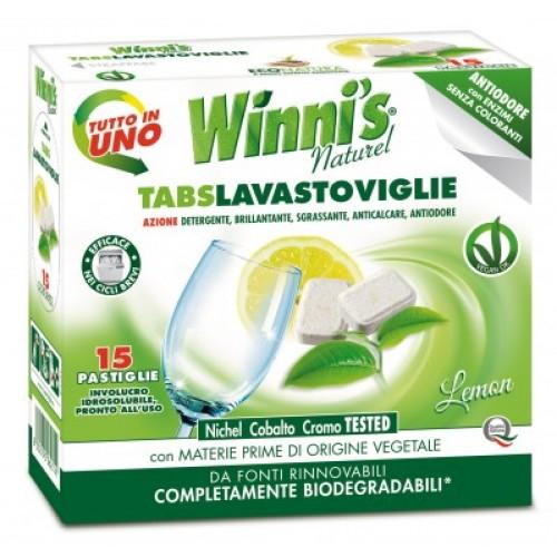 Ekologiškos indaplovių tabletės WINNI'S 15 vnt.