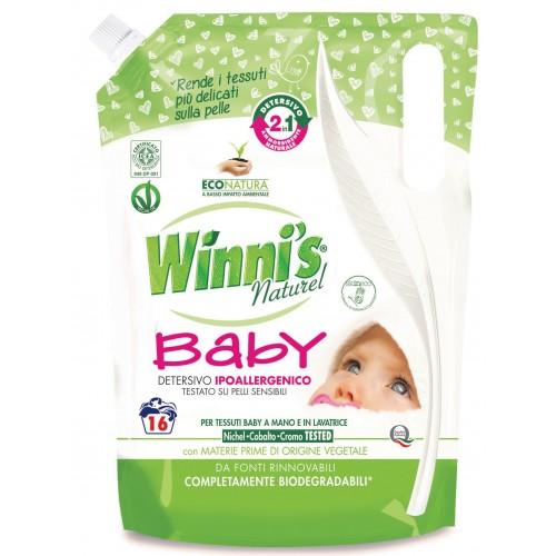 Ekologiškas skalbiklis vaikų drabužiams WINNI'S Baby 2in1 su minkštikliu 800ml