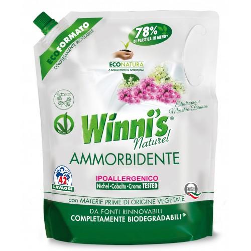 Ekologiškas skalbinių minkštiklis WINNI'S baltojo muskuso aromato 1470ml