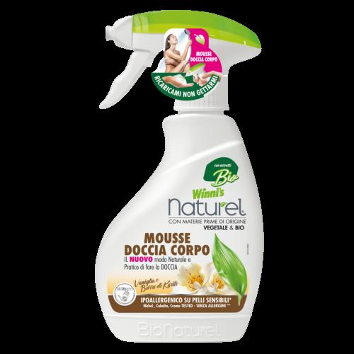 Ekologiškos prausimosi putos kūnui su vanile ir taukmedžio sviestu WINNI'S  250ml
